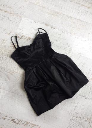 Атласное платье бюстье