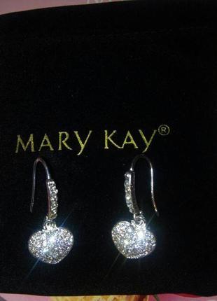 Серьги-сердечки от mary kay