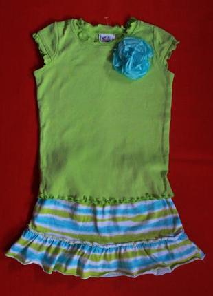 Комплект футболка и юбка-шорты для девочки 2-3 года