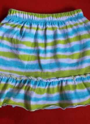 Комплект футболка и юбка-шорты для девочки 2-3 года3