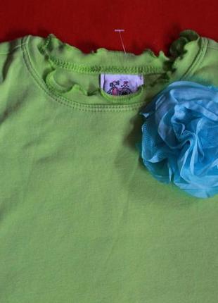 Комплект футболка и юбка-шорты для девочки 2-3 года2