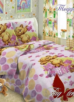1,5-спальный комплект постельного белья детский tag поплин тедди, много расцветок