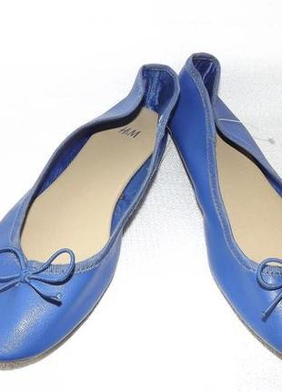 Балетки синие h&m 38 размер, стелька 24 см