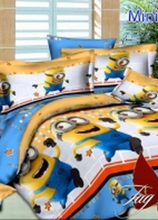 1,5-спальный комплект постельного белья детский tag ранфорс миньоны, выбор расцветок