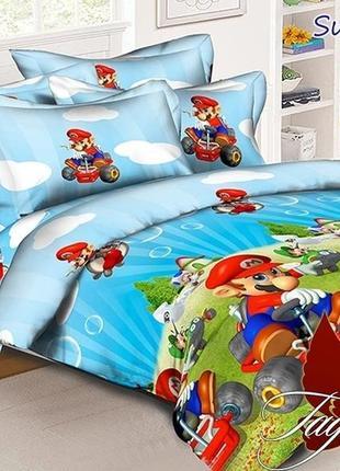 1,5-спальный комплект постельного белья детский tag ранфорс супер марио, выбор расцветок