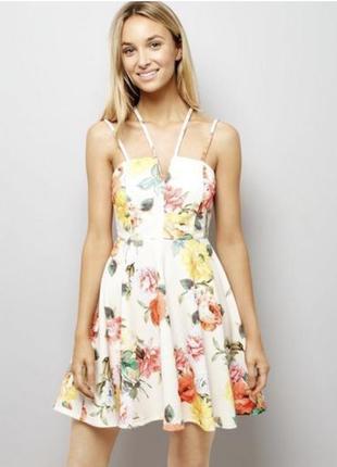 Платье в цветочный принт new look - total распродажа!