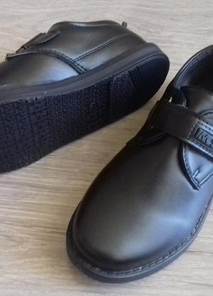 Стильные туфли на липучке, размеры 27-30 в наличии