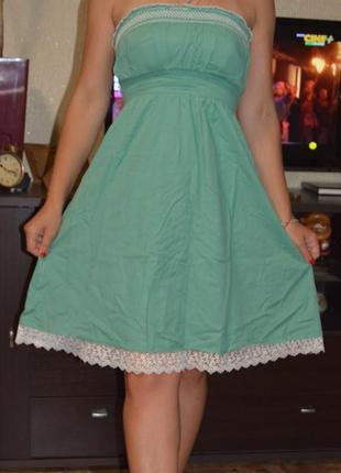Платье, сарафан, платье без бретелей 100 % катон, сукня,