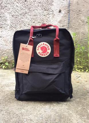 Рюкзак канкен fjallraven kanken сумка портфель classic класик 16 л черный с ручками