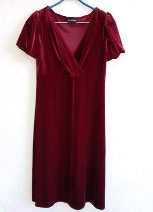 Бархатное платье marks & spencer