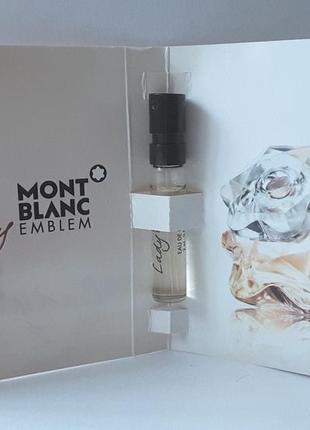 Пробник парфюмированной воды 2 мл montblanc lady emblem, франция