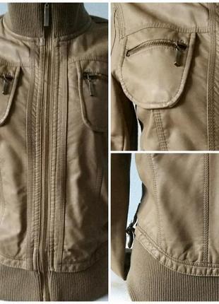 Класснючая кожаная куртка-пилот