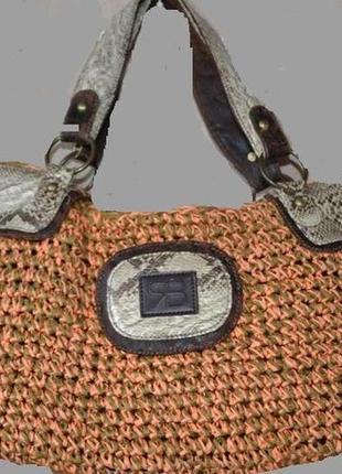 Плетеная сумочка, тренд, италия распродажа
