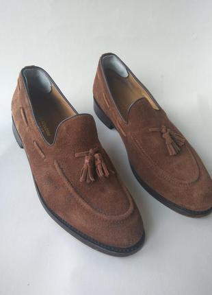 Стильные лоферы (туфли) из натуральной замши от samuel windsor!