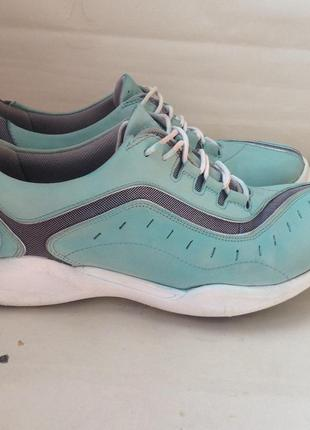 Кожаные кроссовки кеды clarks 38p