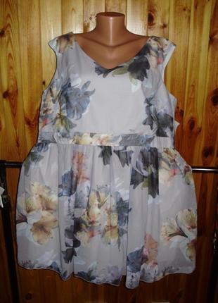 Новое брендовое платье в цветы/батал/24/58 большого размера
