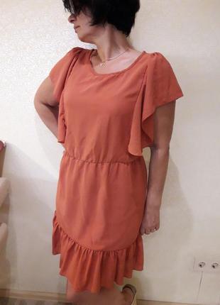 Распродажа! актуальное платье терракотовый испания