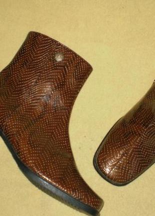 Кожаные демисезонные ботинки meisi (меизи), 37р. стелька 24см.