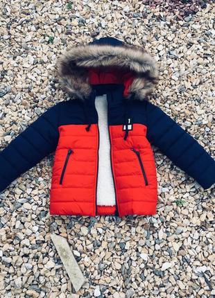 Зимняя куртка мальчик от 3 до 7 лет, коллекция 2018 (размеры 98-116)