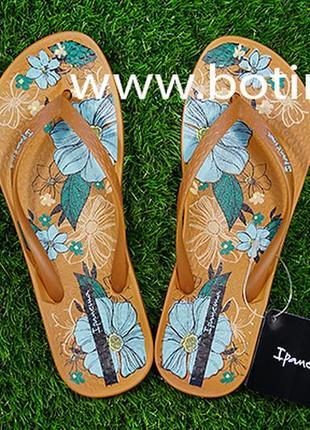 Женские вьетнамки ipanema anat temas 82281(коричневый)