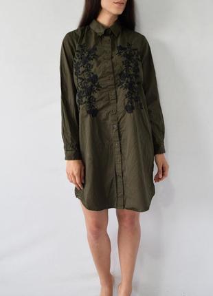 Платье с вышивкой new look