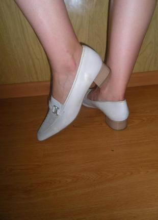 Удобные туфли/низкий ход/нат.кожа/27 см