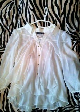Новая белоснежная воздушная блуза