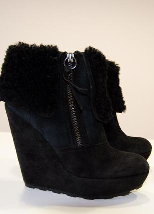 Ботинки из овчины ash на платформе (original price $295)