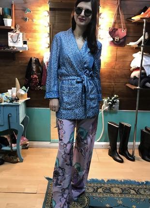 Жакет пиджак в пижамном стиле h&m studio