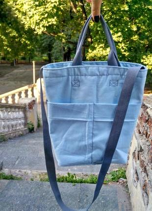 Сумка сумочка голубая ручная работа
