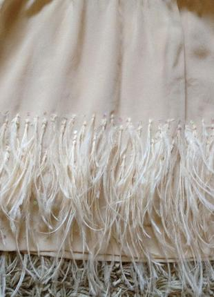 Zara юбка с перьями