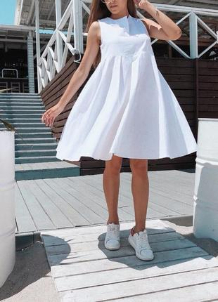 Платье лён / платье рубашка / платье оверзсайс