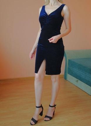 Бархатное платье по фигуре