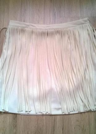 Белая мини юбка zara, размер s