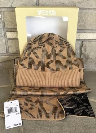 Набор michael kors шапка и двухсторонний шарф