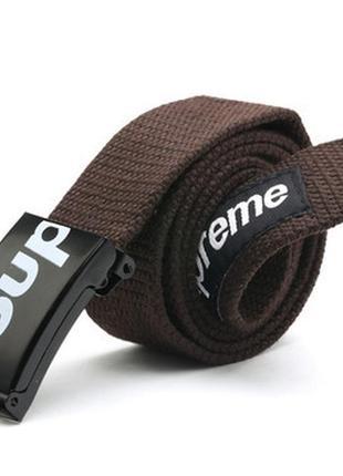 Supreme американский бренд ремень новый тканевый (цвет: коричневый)