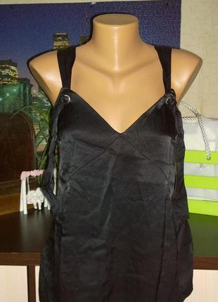 Атласный топ блуза кофточка майка h&m