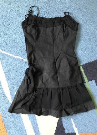 Promod короткое черное платье хлопок