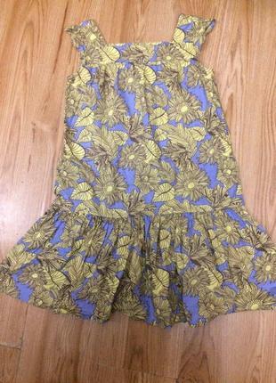 Летний лёгкий яркий сарафан платье в жёлтый подсолнух