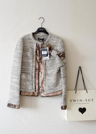 Жакет twin-set, р.s. новый пиджак simona barbieri италия