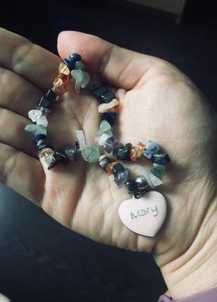 Милый браслет с натуральных камней