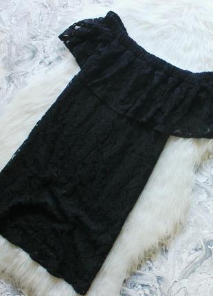 Кружевное платье на плечи с голыми плечами натуральная ткань /сукня