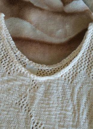 Нежный ажурный вязаный кружевной кроп топ майка укороченная без рукавов s-m бохо3 фото