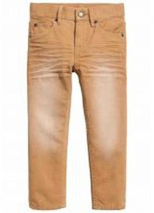 Рыжие модные штаны джинсы мальчику с потертостzvb 4 года-рост 104см palomino германия