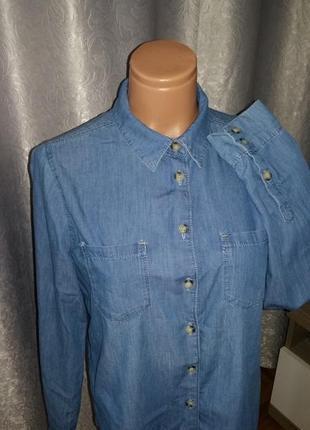 Рубашка джинсовая topshop s-m