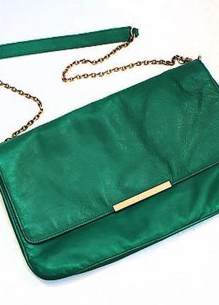 Стильная кожаная сумка от zara