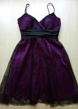 Вечернее платье фиолетовое от onyx nite s - m