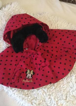 Пальто - пончо для самой лучшей модняшки с милыми бантиками а кнопках с minnie💋🍓❤️