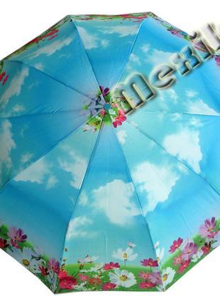 Модный зонт zest полуавтомат 10 спиц. расцветка анрия