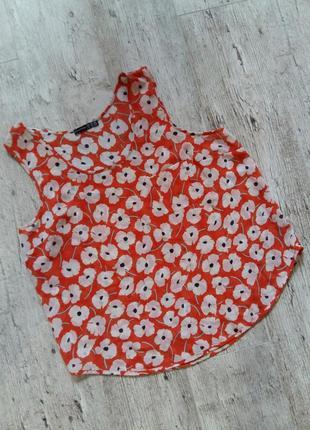Легкая шифоновая блуза с цветами